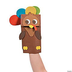 Paper Bag Turkey Puppet Craft Kit
