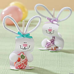 Paper Bunny Pops Craft Idea