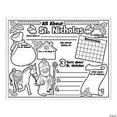 "Paper Color Your Own ""All About St. Nicholas"" Posters"