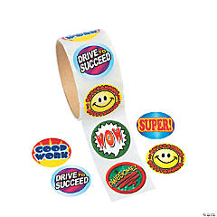 Paper Encouragement Roll of Stickers