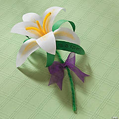 Paper Lily Craft Idea