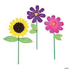 Paper Plate Flowers Idea
