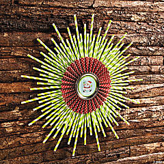 Paper Straw Wreath Idea
