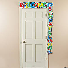 Paper Welcome to Sunday School Door Banner
