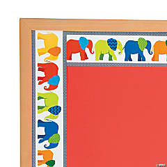 Parade of Elephants Wide Bulletin Board Borders
