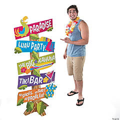 Paradise Luau Directional Yard Sign Cardboard Stand-Up