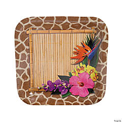 Paradise Safari Square Paper Dinner Plates