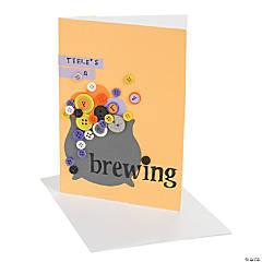"""Party Brewing"" Halloween Invitation Idea"