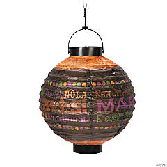 Party Gras Printed Light-Up Lanterns