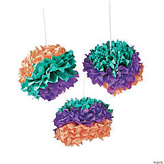 Party Gras Tissue Pom-Poms