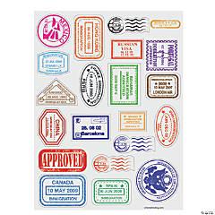 Passport Stamp Sticker Sheets