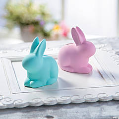 Pastel Ceramic Easter Bunnies Idea