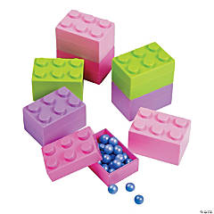 Pastel Color Brick Containers - 24 Pc.
