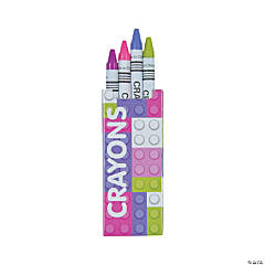 Pastel Color Brick Crayons