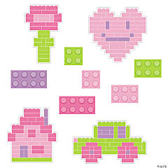 Pastel Color Brick Cutouts