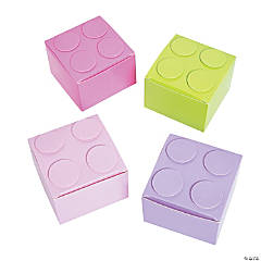 Pastel Color Brick Favor Boxes