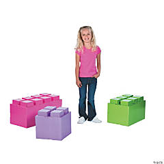 Pastel Color Brick Party 3D Stand-Ups