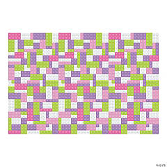 Pastel Color Brick Party Backdrop