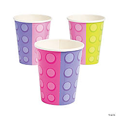 Pastel Color Brick Party Cups