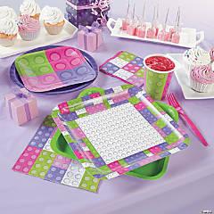 Pastel Color Brick Party Supplies