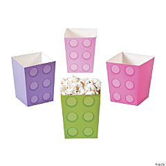 Pastel Color Brick Popcorn Boxes
