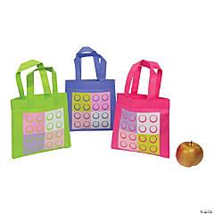 Pastel Color Brick Tote Bags