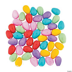 Pastel Easter Egg Beads - 14mm