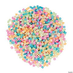 Pastel Glow-in-the-Dark Fuse Beads
