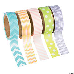 Pastel Patterned Washi Tape Set