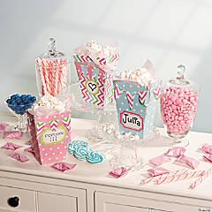 Pastel Popcorn Boxes Idea