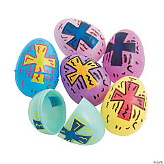 Pastel Religious Plastic Easter Eggs - 72 Pc.