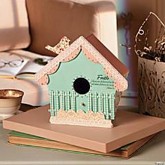 Pastel Spring Birdhouse Idea