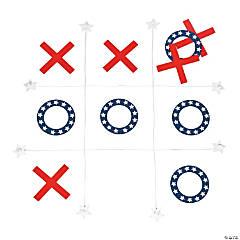 Patriotic Backyard Tic-Tac-Toe Game