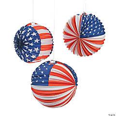 Patriotic Balloon Hanging Paper Lanterns