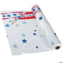 Patriotic Banquet Plastic Tablecloth Roll