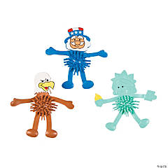 Patriotic Bendable Porcupine Characters