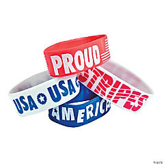 Patriotic Big Band Rubber Bracelets