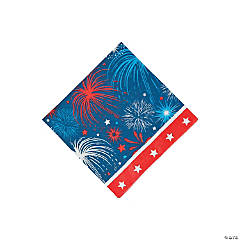 Patriotic Burst Beverage Napkins