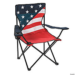 Patriotic Camping Chair with Carrying Bag