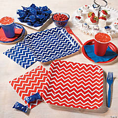Patriotic Chevron Party Supplies