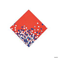 Patriotic Confetti Beverage Napkins