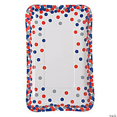 Patriotic Confetti Paper Appetizer Plates