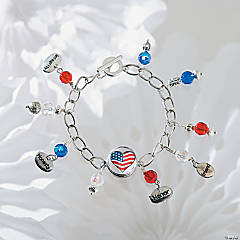 Patriotic Connector Snap Bracelet Idea