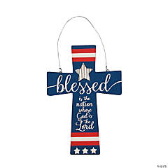 Patriotic Cross Door Sign