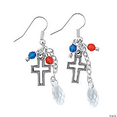 Patriotic Cross Earrings Craft Kit