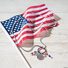 Patriotic Dangle Necklace Idea