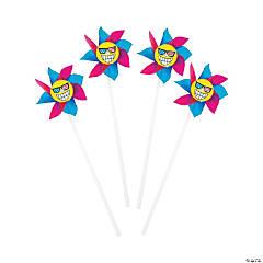 Patriotic Emoji Pinwheels