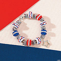 Patriotic Flag Large Hole Bead Bracelet Idea