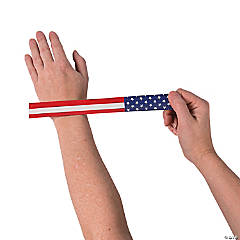 Patriotic Flag Slap Bracelets