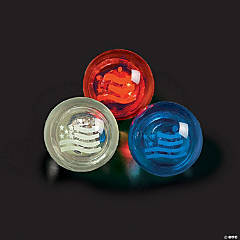 Patriotic Flashing Bouncing Balls